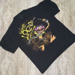 """THE MUPPETS ANIMAL """" LOCO"""" MENS TEE SIZE L"""